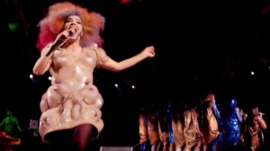 Still from Bjork: Biophilia Live